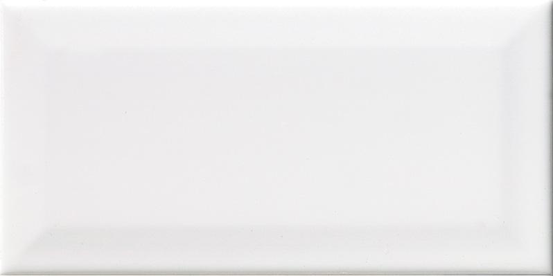 10x20 Biselado blanco glossy