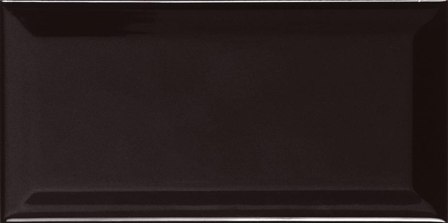 10x20cm Biselado negro glossy