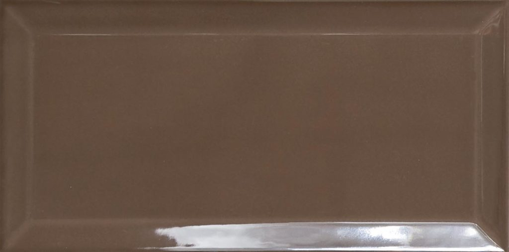 10x20 biselado chocolate gloss