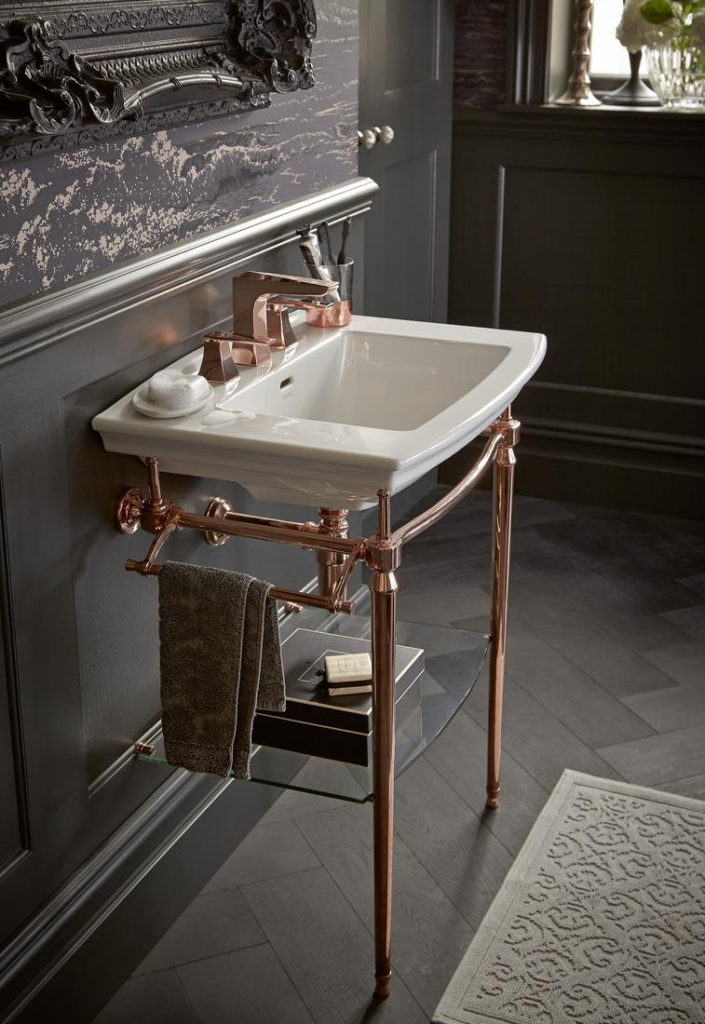 Arbingdon Washstand in rose gold heritage