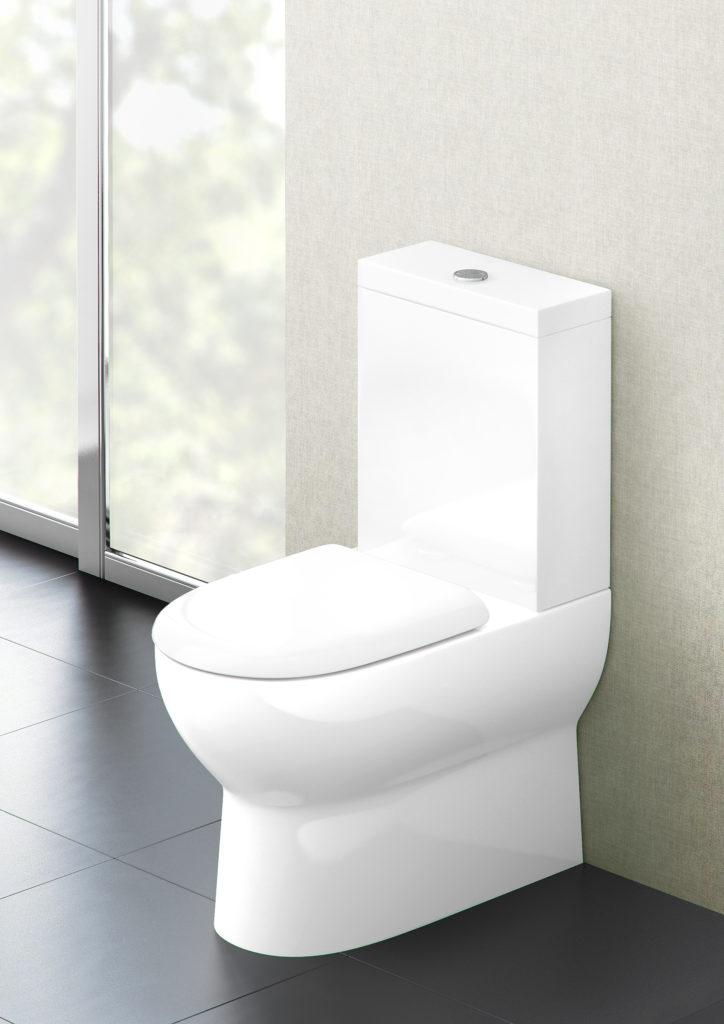 Compact toilet. Britton