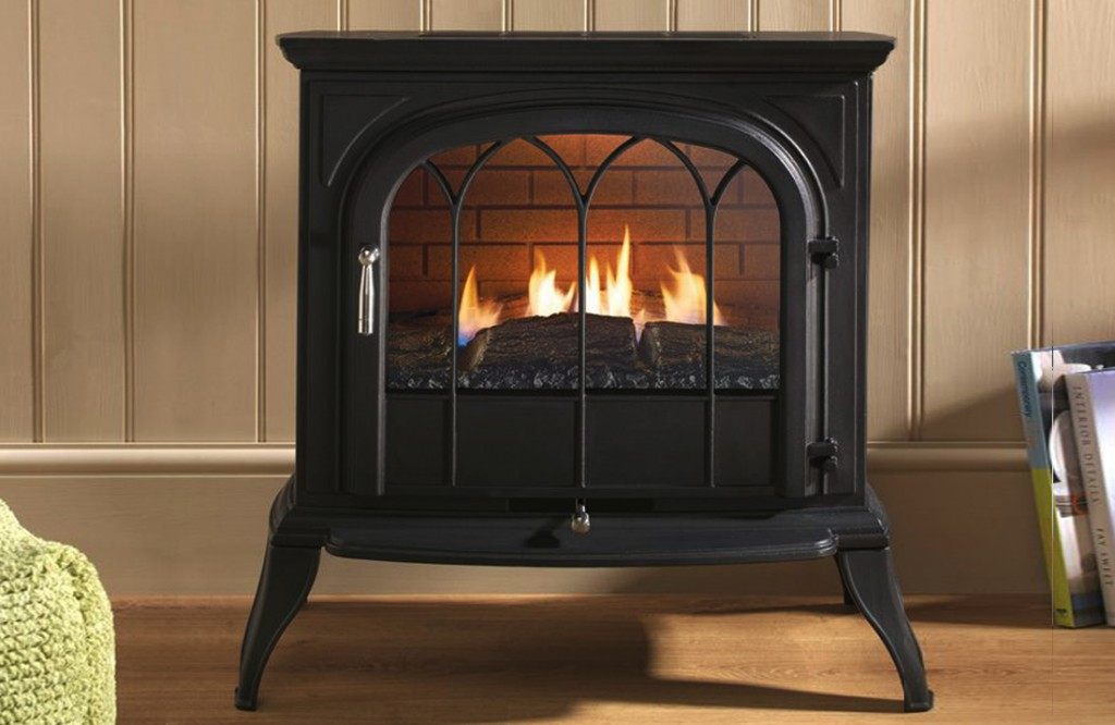 Eko6010 Black Curved Gas stove.Henley