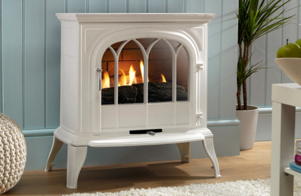 Eko6010 White Curved Gas stove.Henley