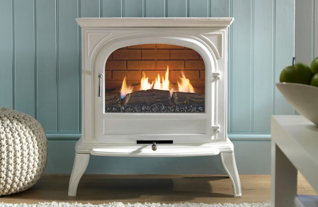Eko6010 White Plain Gas stove.Henley