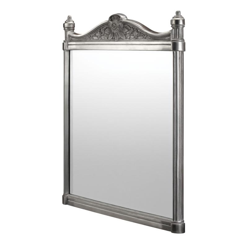 Georgian brushed aluminium mirror.
