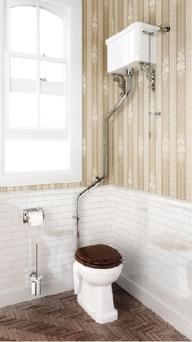 High level WC with angled extension pipes.Burlington1