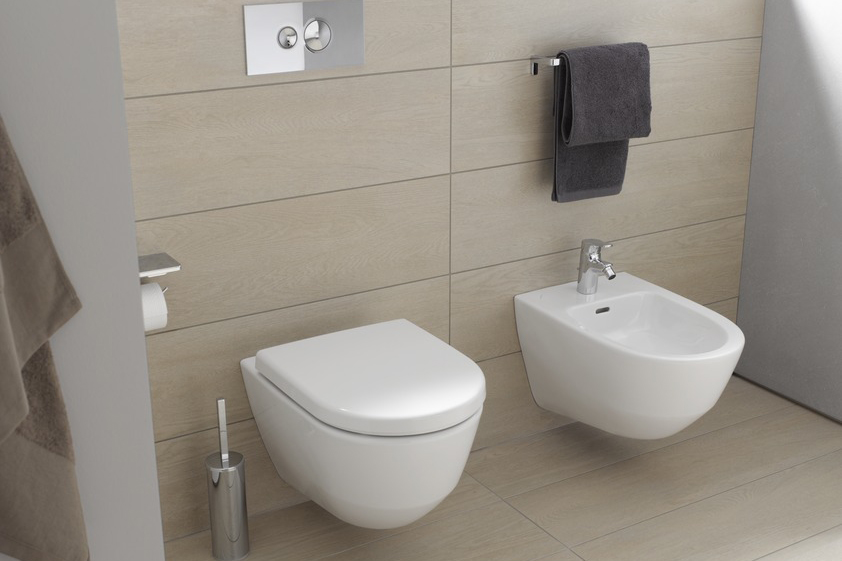 Laufen Pro S wall hung toilet and bidet