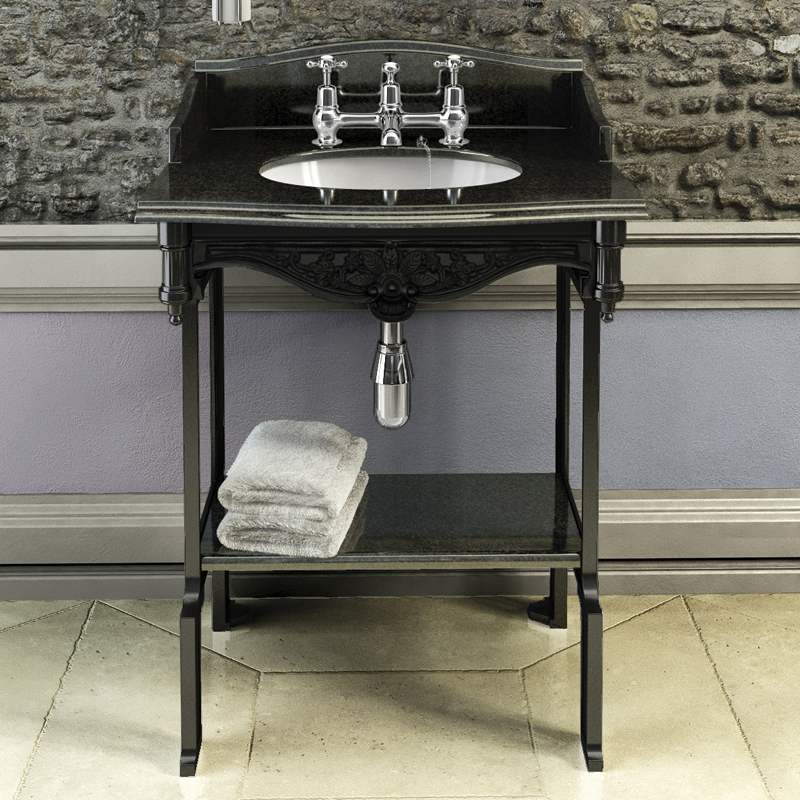 Sarah black aluminium wash stand. Burlington