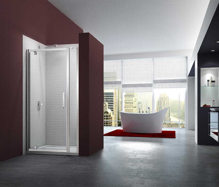 6 Series Pivot Door with Inline Panel LR.Merlyn