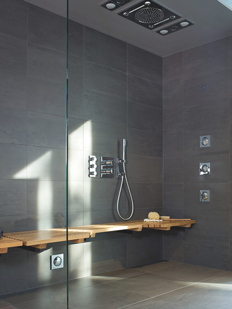 Bespoke tailor made shower.Grohe