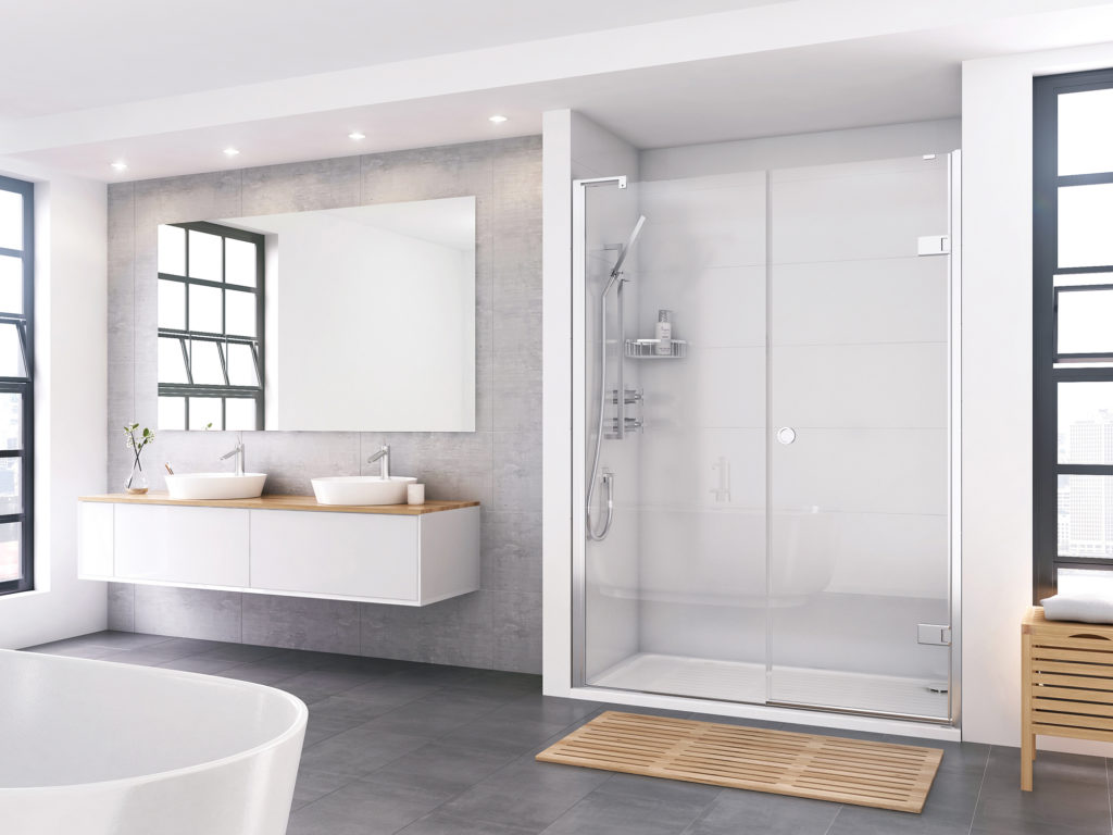 Roman shower doors