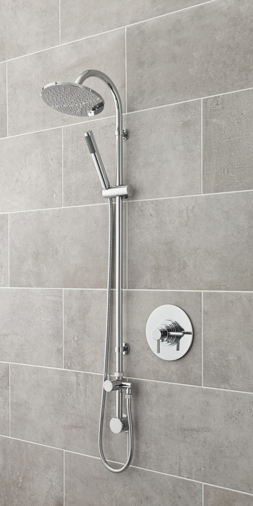 UJTY025 & UA3155 - Concealed Thermostatic Shower Valve and Slide Rail Kit.RT Large