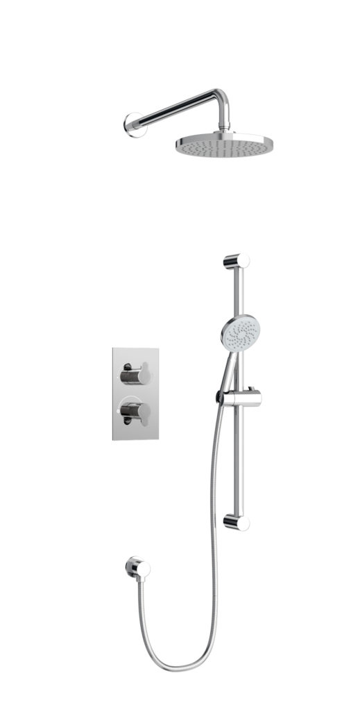 V53-V51 Round concealed shower. Britton