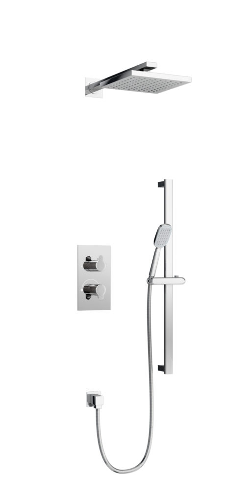 V54-V51 Square concealed shower. Britton