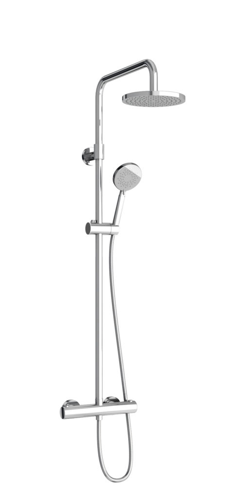 V55 exposed round shower. Britton