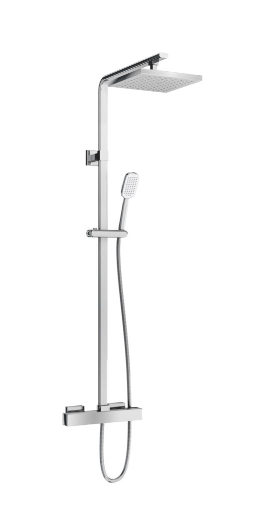 V56 exposed square shower. Britton
