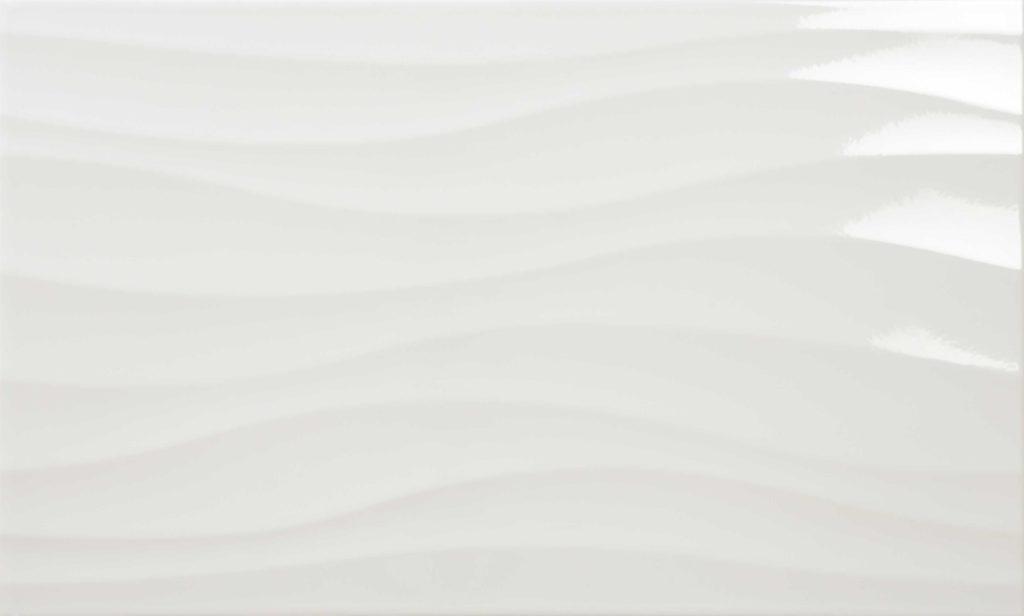 Ondas Brillo blanco 33x55
