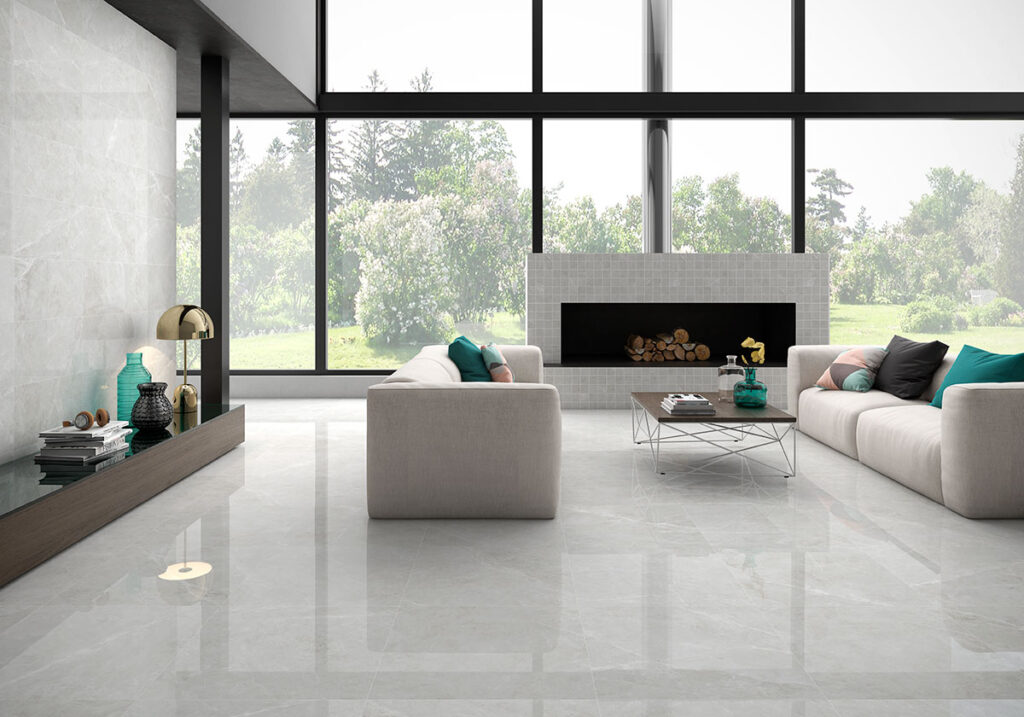 CREPUSCOLO PEARL 75X75CM RECTIFIED POLISHED PORCELAIN